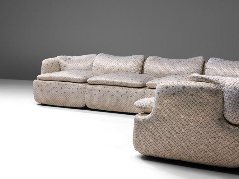 Late 20th Century Alberto Rosselli for Saporiti 'Confidential' Corner Sofa For Sale