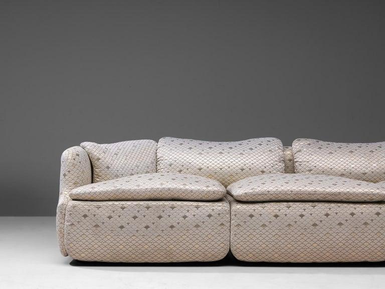 Fabric Alberto Rosselli for Saporiti 'Confidential' Corner Sofa For Sale