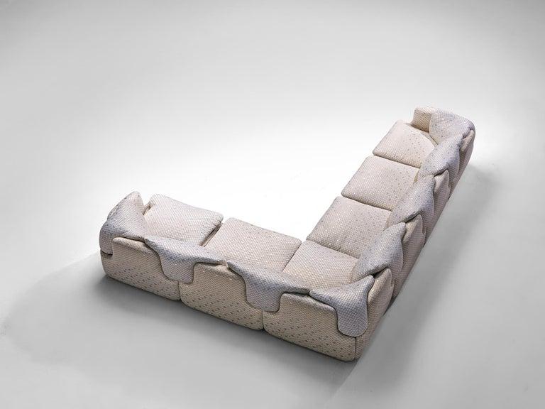 Alberto Rosselli for Saporiti 'Confidential' Corner Sofa For Sale 1