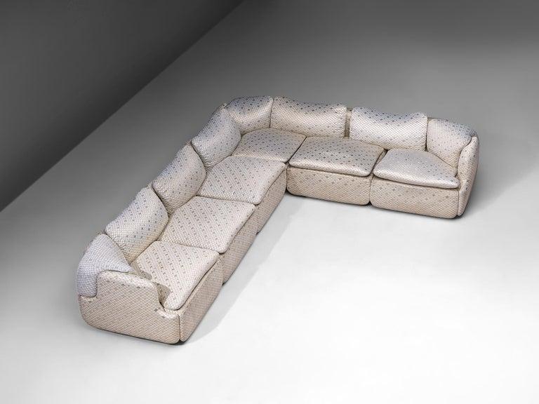 Alberto Rosselli for Saporiti 'Confidential' Corner Sofa For Sale 2