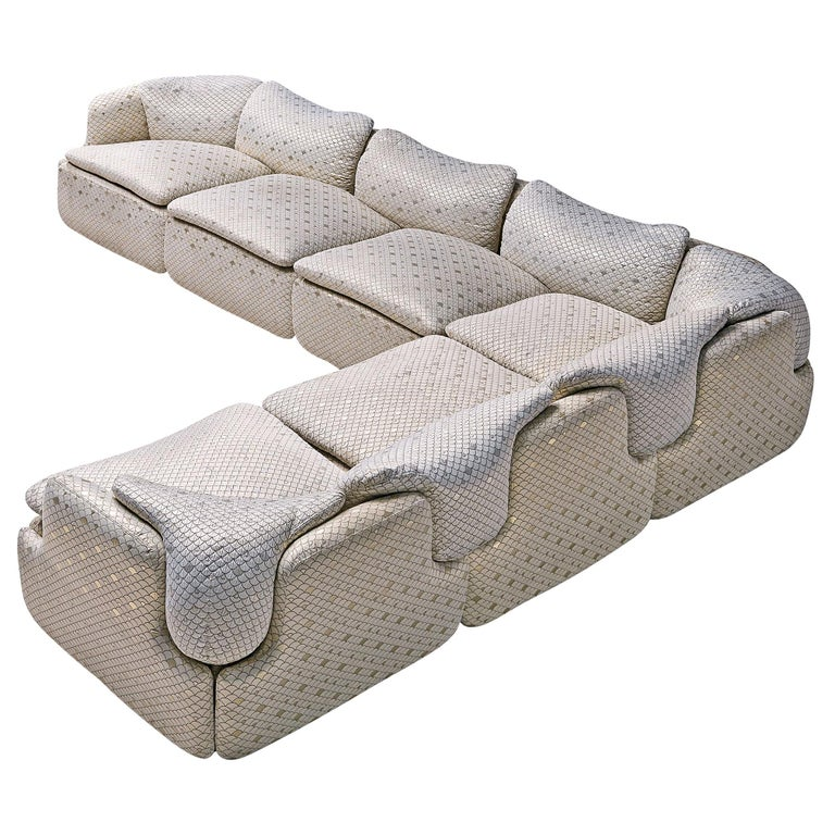 Alberto Rosselli for Saporiti 'Confidential' Corner Sofa For Sale