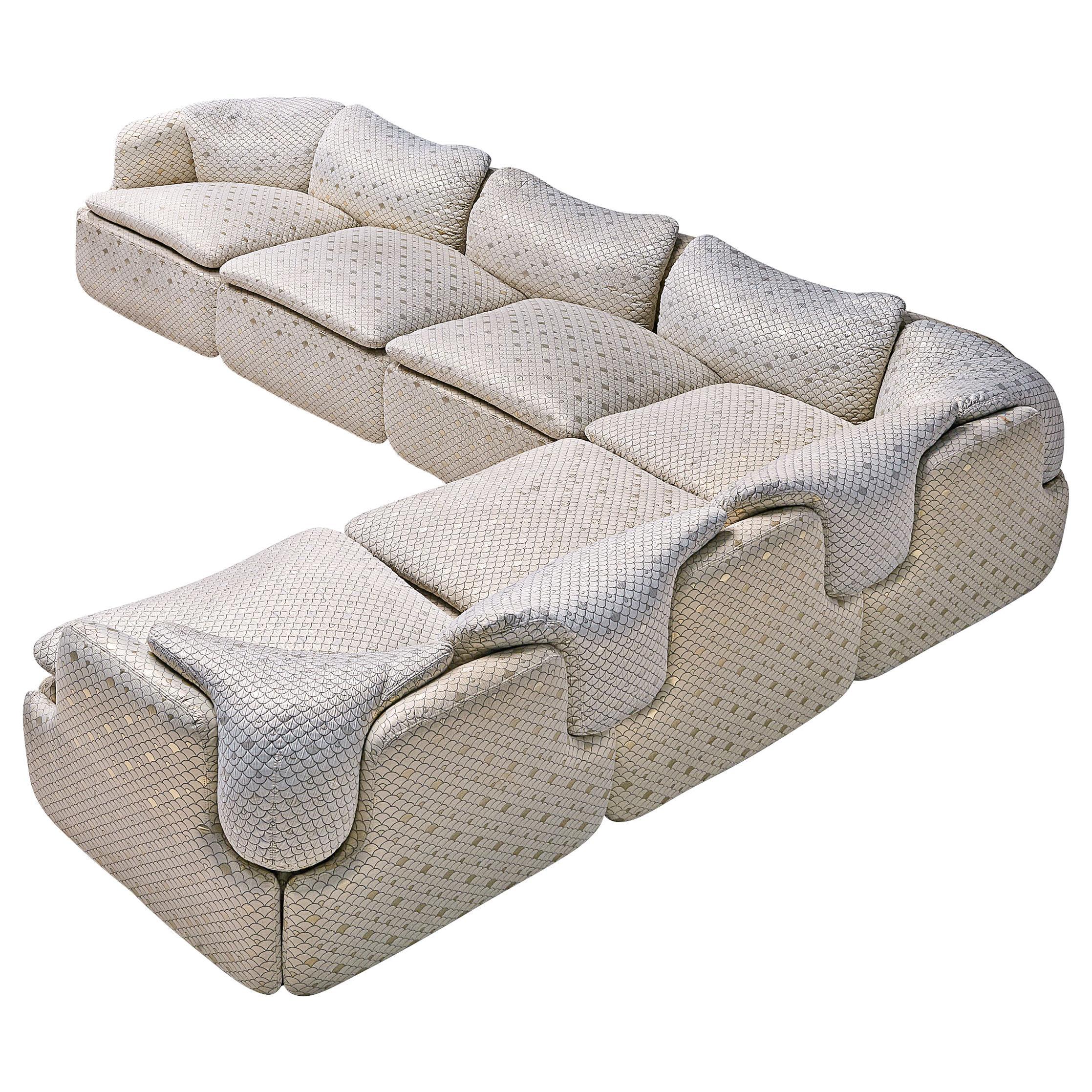 Alberto Rosselli for Saporiti 'Confidential' Corner Sofa