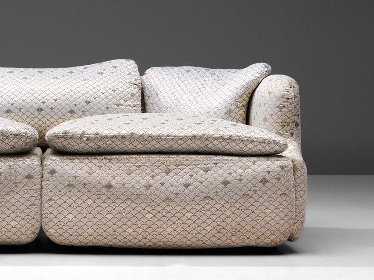 Alberto Rosselli for Saporiti 'Confidential' Sofa In Good Condition For Sale In Waalwijk, NL