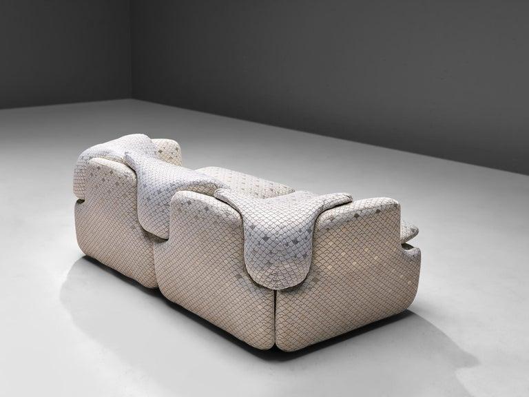 Fabric Alberto Rosselli for Saporiti 'Confidential' Sofa For Sale