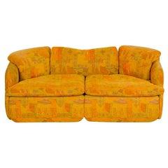 """Alberto Rosselli for Saporiti, """"Confidential"""" Two-Seat Sofa, 1970s"""