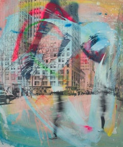 5th and We - contemporary photography, mixed media, Manhattan street scene