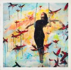 Romance de la Pena - contemporary mixed media art work of Alberto Sanchez