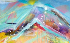 Unforgotten Series #3 - Handpainted photography, colorful abstract landscape