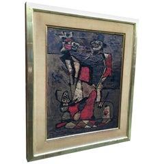 Alberto Sartoris Grotesque Figure Italian Modern Painting