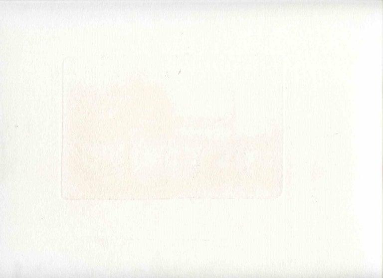 Trattoria alla Batteria Nomentana - Original Etching by Alberto Ziveri - 1949 For Sale 1