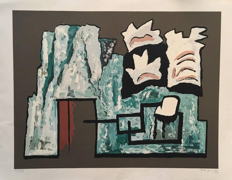 Alberto Magnelli Abstract Print - Abstract Composition - Original Screen Print by A. Magnelli - 1962