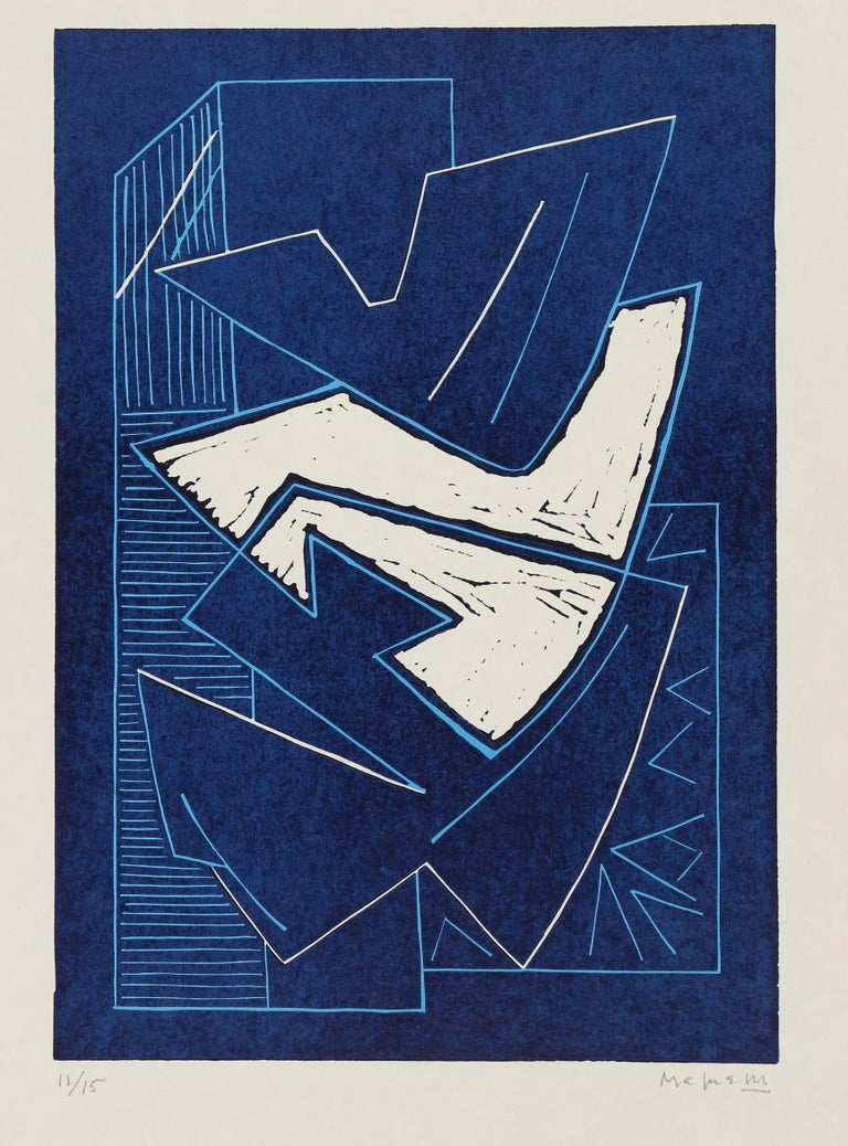 Alberto Magnelli Abstract Print - Album de la Ferrage, Hand-Signed Linocut