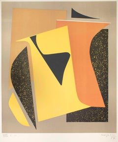 Composition - Original Screen Print by Alberto Magnelli - 1957