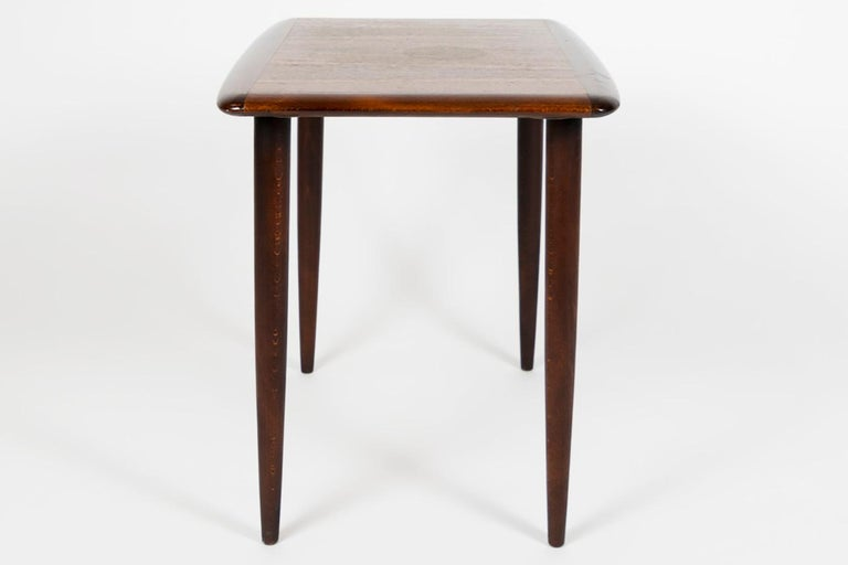 Alberts Tibro Rosewood Side Table, made in Sweden 1960s, Signed In Good Condition For Sale In Enschede, Overijssel