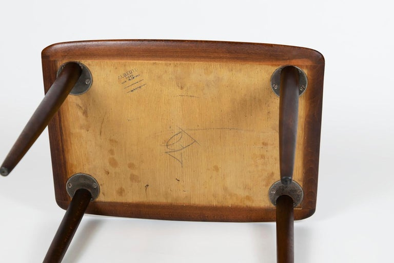 Alberts Tibro Rosewood Side Table, made in Sweden 1960s, Signed For Sale 1