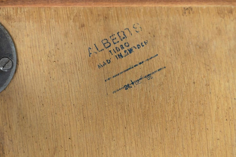 Alberts Tibro Rosewood Side Table, made in Sweden 1960s, Signed For Sale 2