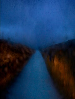 A855 Road Car Headlights – Albert Watson, Blue, Nature, Road, Photography, Night