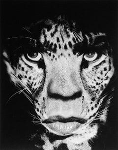 Mick Jagger/Leopard – Albert Watson, photography, portrait, animal, contemporary