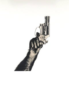 """Monkey with Gun, 1992"", Gelatin Silver Print"