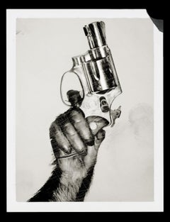 Monkey with Gun, New York City – Albert Watson, Contemporary, Animal, print