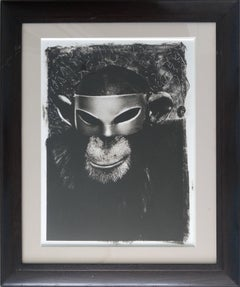 """Monkey with Mask, New York City, 1992"", Gelatin Silver Print"