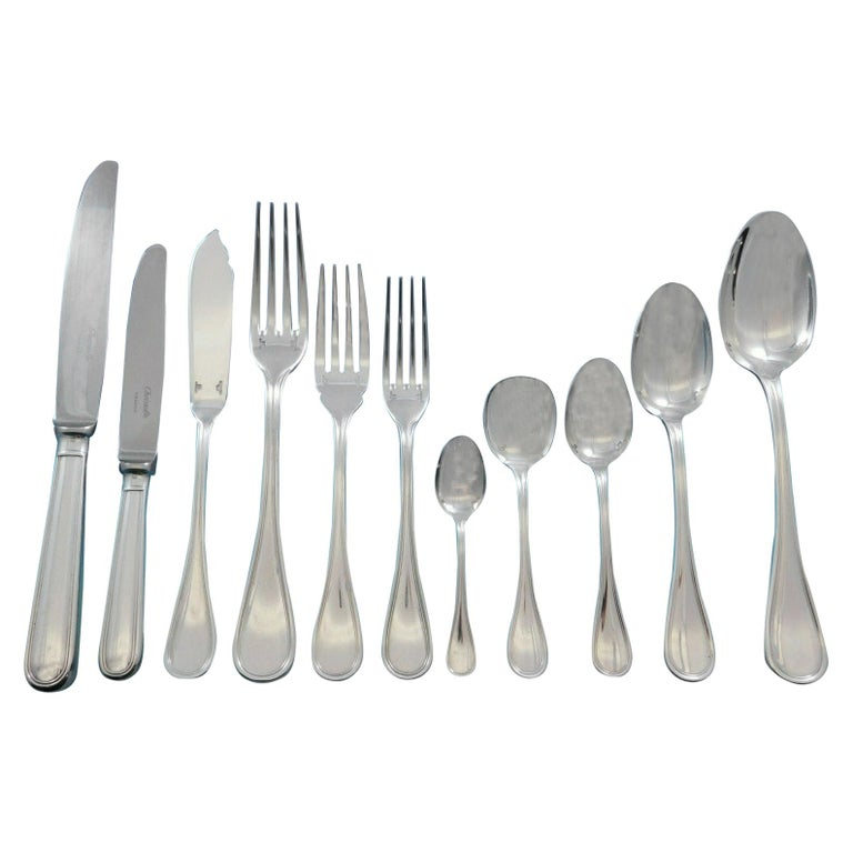 Christofle Albi silver-plated 132-piece flatware set, 20th century, offered by Antique Cupboard