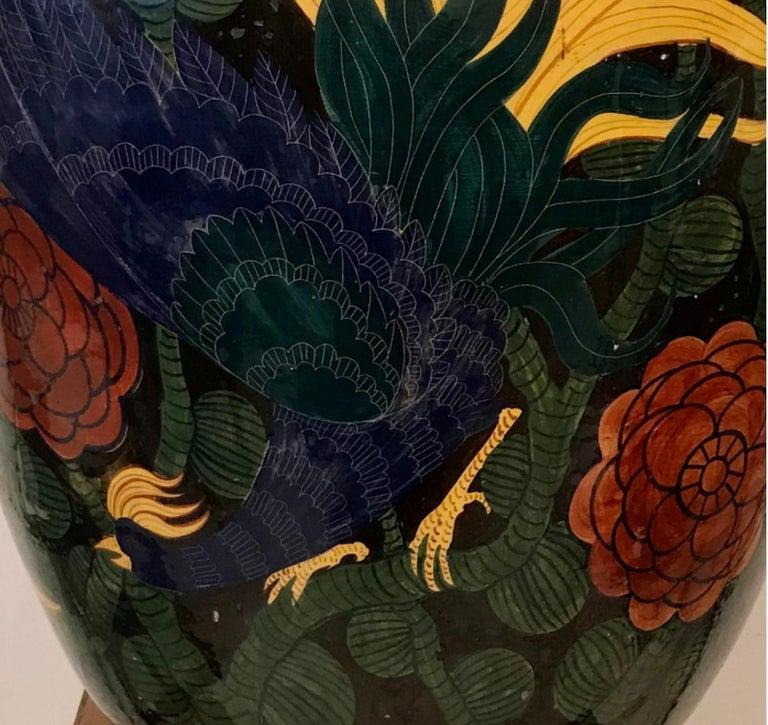 "Mid-20th Century Albisola ""La Fenice"" Vase Sculpture Ceramic, 1930, Italy For Sale"