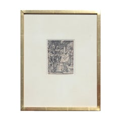 """""""Christ Before Caiaphas, from The Small Passion"""" Woodcut Print"""