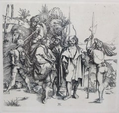 Five Foot Soldiers and a Mounted Turk-Framed (Reproduction) Print
