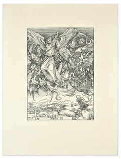 Killing Dragons - Woodcut Reproduction After A. Durer - 20th Century