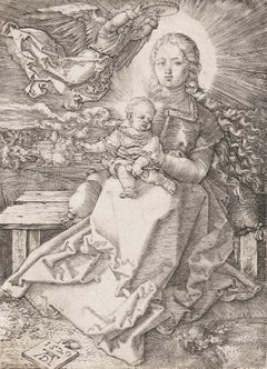 Madonna Crowned by One Angel