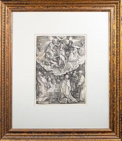 'The Assumption and Coronation of the Virgin' woodblock print by Albrecht Dürer