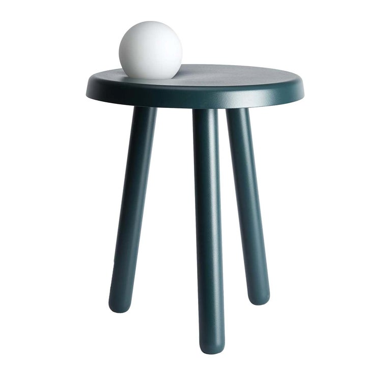 Alby Green Side Table with Light by Mason Editions For Sale