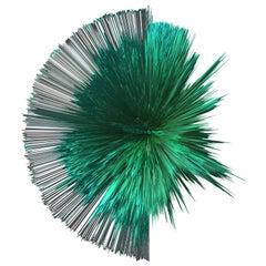 Contemporary digital 3D art print on selfstanding acrylic glass, Emerald Series