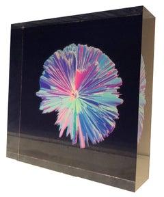 Digital 3D art on selfstanding acrylic glass, Indigo series #4502,