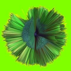 Digital 3d art -  print by ALCHEMIST Emerald Series 1002 2019 framed 1x1m