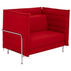 Alcove Red Loveseat Sofa by Ronan & Erwan Bouroullec for Vitra, 2006