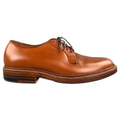 ALDEN Bootmaker Edition Size 6.5 Tan Leather 9528 Lace Up Shoes