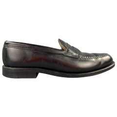 ALDEN Size 10 Black Horween Leather 987 Penny Loafers