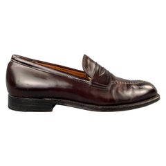 ALDEN Size 10 Color 8 Cordovan Leather Penny Loafers