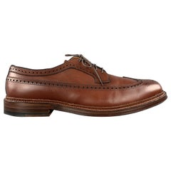 ALDEN Size 10.5 Brown Leather Wing Lace Up Brogues