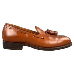 ALDEN Size 7 Burnished Tan Calf Leather Tassels Moccasins 662 Loafers