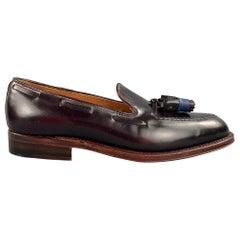 ALDEN Size 7 D Dark Brown Leather Tassels D7103 Loafers