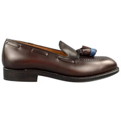 ALDEN Size 7 Dark Brown Horween Leather 561 Tassels Loafers