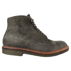 ALDEN x Context Rough Roy Boot Earth Chamois Size 10 Black Textured Leather Boot