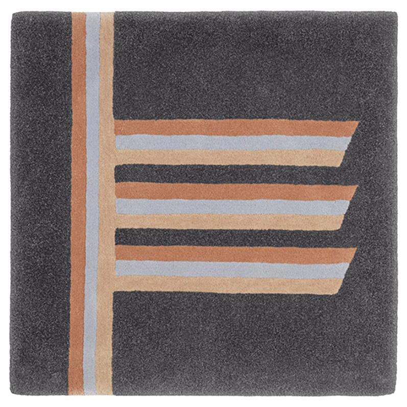 """""""Alder"""" Owl Grey & Beige Wool Tree Alphabet Carpet or Tapestry by Rhyme Studio"""