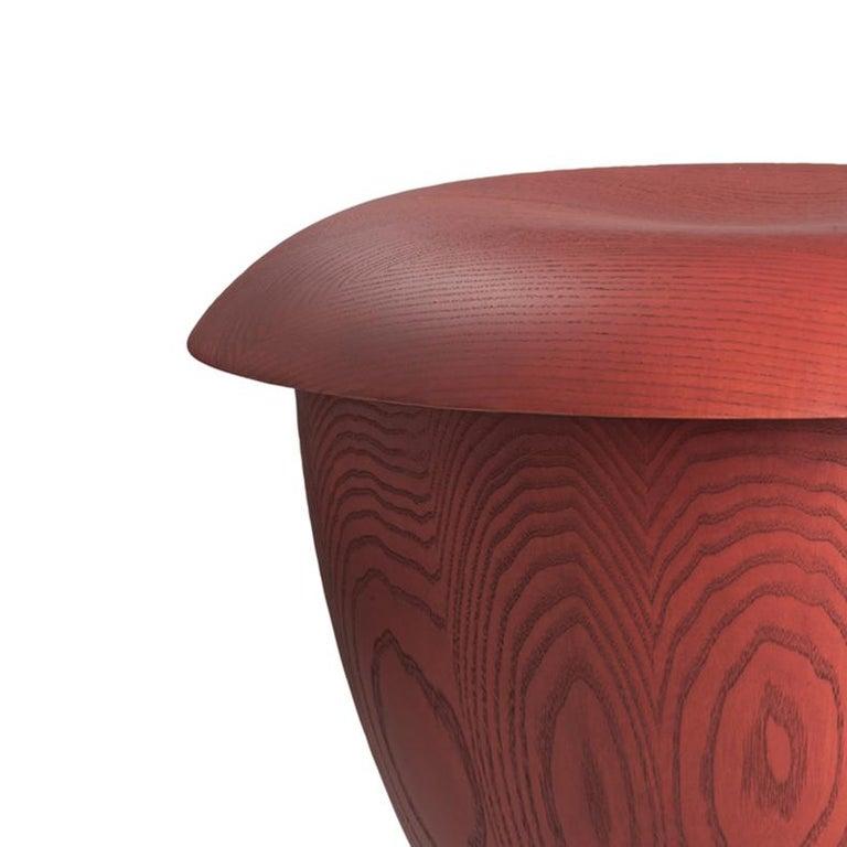 Mid-Century Modern Aldo Bakker 'Bon' Wood Stool by Karakter For Sale