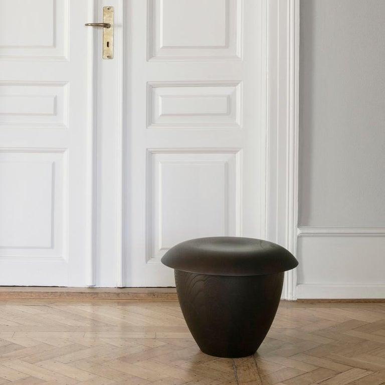 Aldo Bakker 'Bon' Wood Stool by Karakter For Sale 1