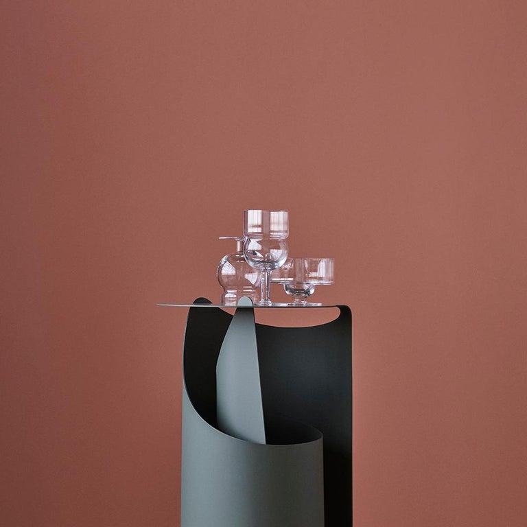 Contemporary Aldo Bakker Coffee Table, Rolle Steel by Karakter For Sale