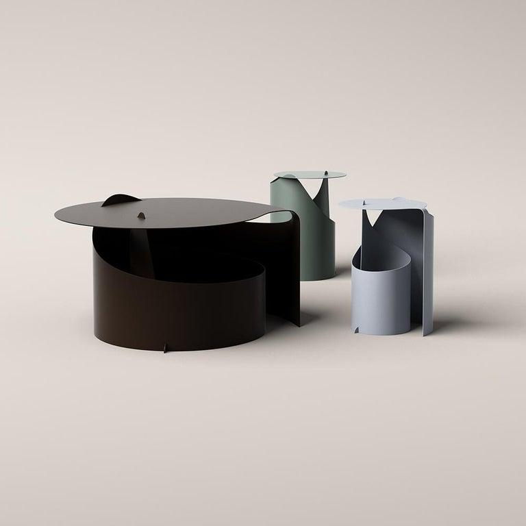 Aldo Bakker Coffee Table, Rolle Steel by Karakter For Sale 1
